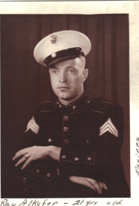 Ray Alkofer as a young Marine