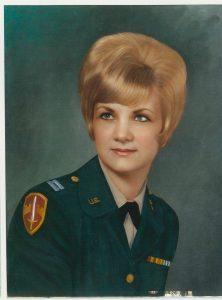 Janie Schaut in Army uniform for blog